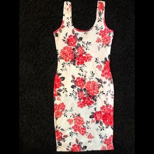 Dolce & Gabbana Inspired Rose Print Midi Dress